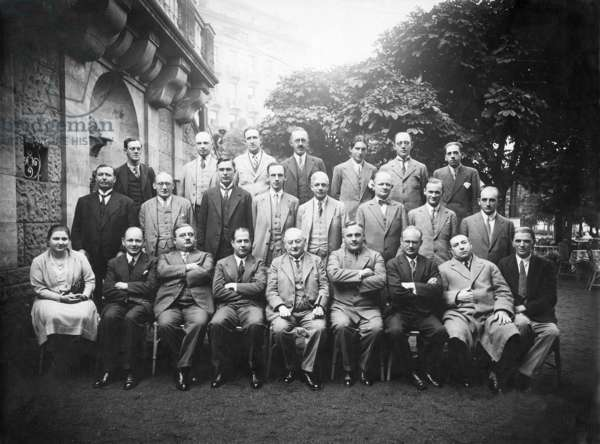 Chess players (b/w photo)