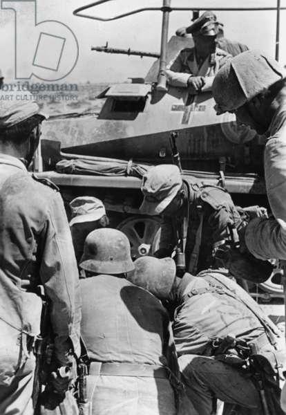 Erwin Rommel near Tobruk, 1942 (b/w photo)