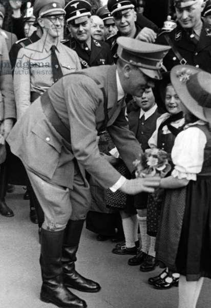 Adolf Hitler in Innsbruck, 1938 (b/w photo)