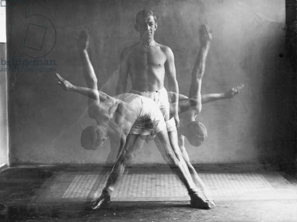 Gymnastics, 1926 (b/w photo)