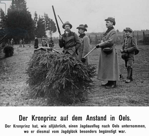 Hunt in Oels in Lower Silesia, 1912