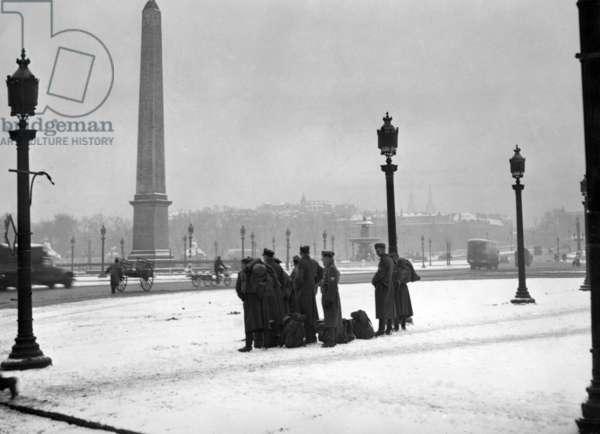 Winter in Paris, 1942 (b/w photo)