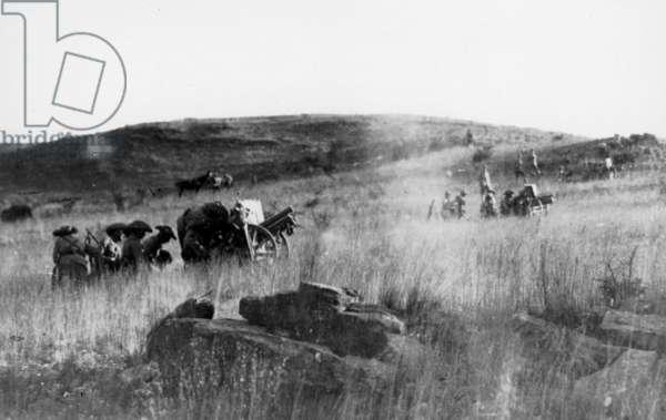 German artillery in German Southwest Africa in the First World War (b/w photo)
