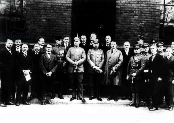The Hitler-Ludendorff Putsch, 1923 (b/w photo)