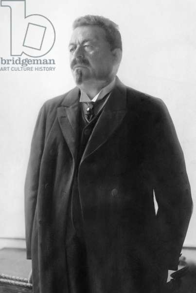 Portrait of Friedrich Ebert (1871-1925) on the day of his swearing-in as 1st President of the Weimar Republic, 21 August 1919 (b/w photo)