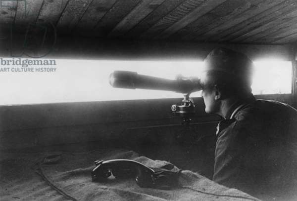 German observation post on the Atlantic Wall (b/w photo)