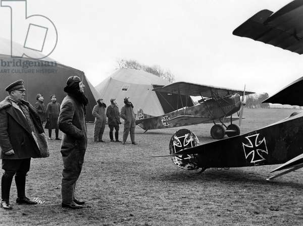 German Fighter Aircrafts during the First World War (b/w photo)