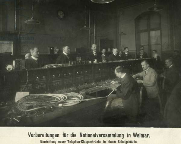 Preparations for the National Assembly in Weimar, 1919