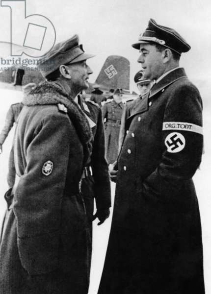 Eduard Dietl with Albert Speer in Norway, 1943