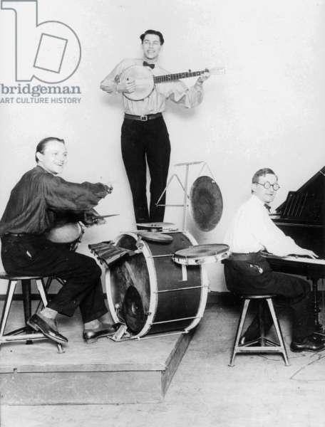 Bauhaus jazz band, 1932 (b/w photo)