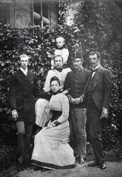 Archduke Ferdinand Karl, Archduke Franz Ferdinand, Archduke Otto, 1913 (b/w photo)