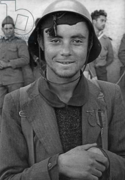 Young Spanish national soldier in the Spanish Civil War, 1936