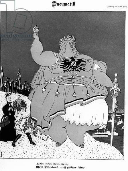 Caricature of German great-power ambitions, 1900 (engraving)