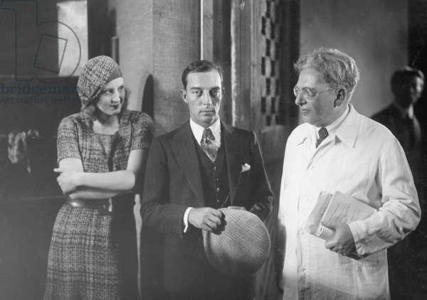 Buster Keaton in Neubabelsberg, 1930 (b/w photo)