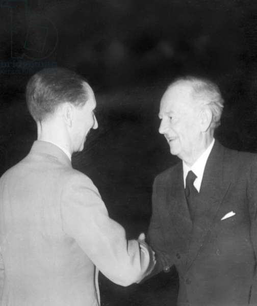 Joseph Goebbels and Otto Gebuehr, 1942