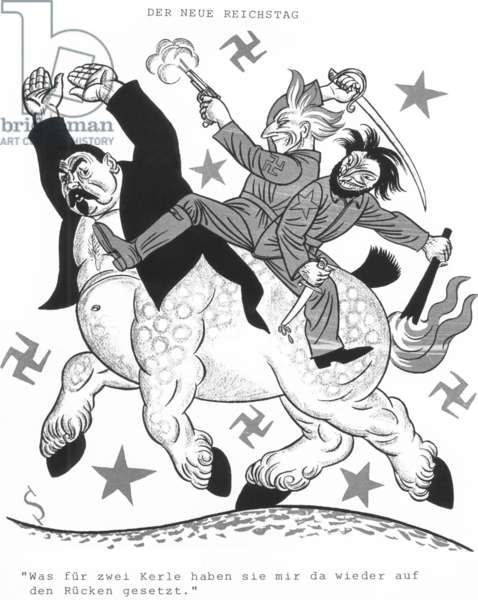 """Caricature of the outcome of the Reichstag elections in the """"Simplicissimus"""", 1924"""