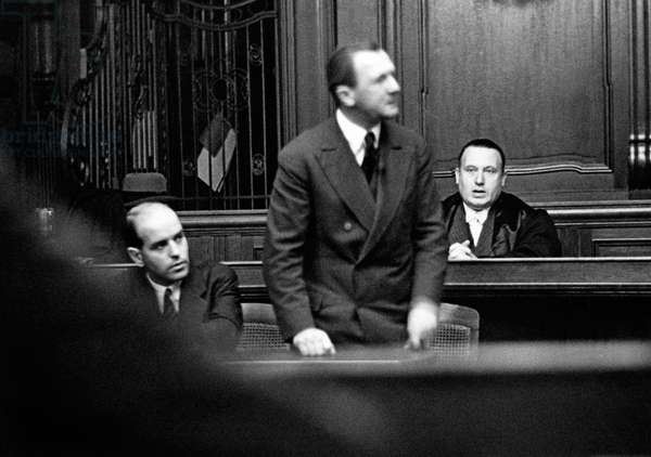 George Grosz on trial for public offence, 1920s (b/w photo)