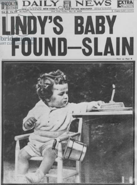 Kidnapping of the Lindbergh Baby, 1932 (b/w photo)