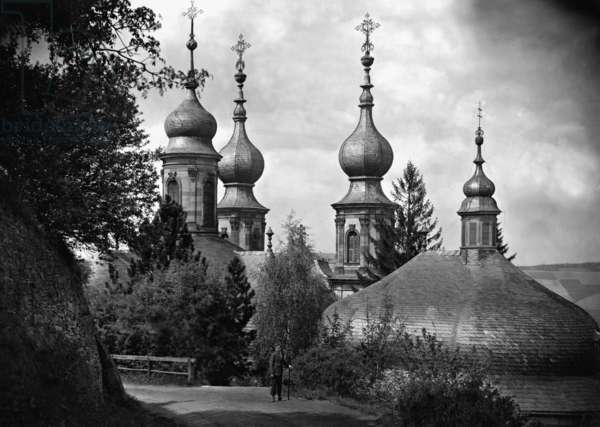 The chapel in Wuerzburg, 1922 (b/w photo)