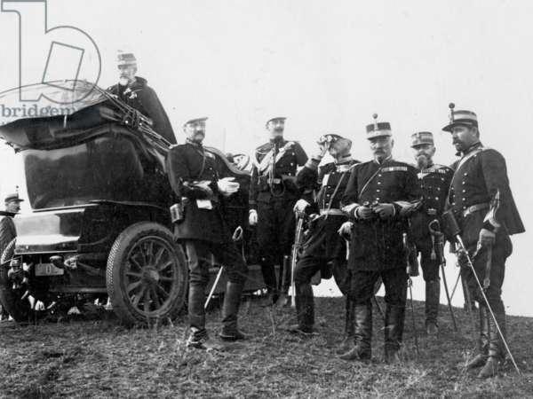 King Carl I of Romania with his staff, 1913 (b/w photo)