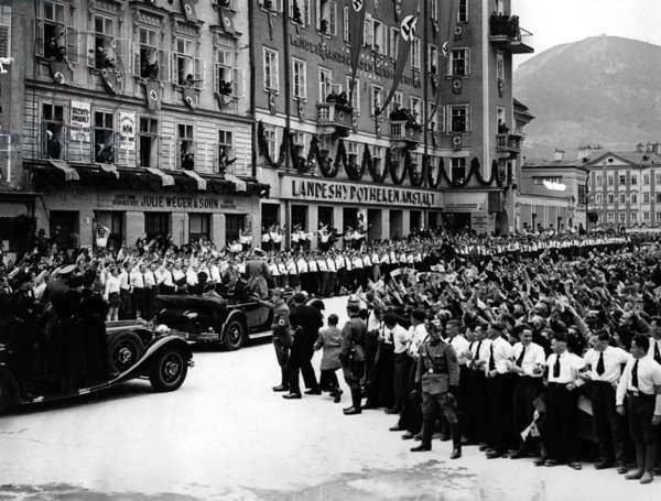 Adolf Hitler in Salzburg, 1938 (b/w photo)