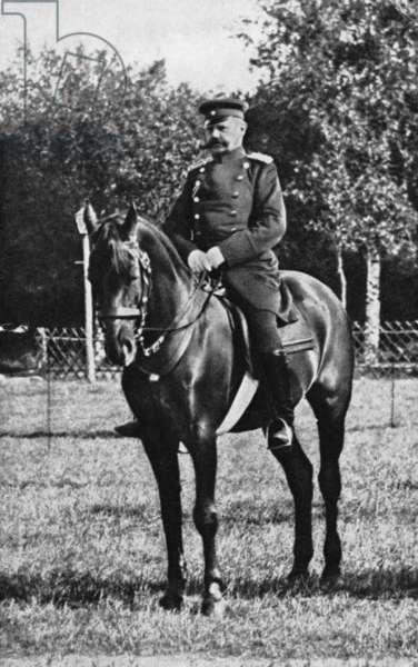 Paul von Hindenburg, 1894 (b/w photo)
