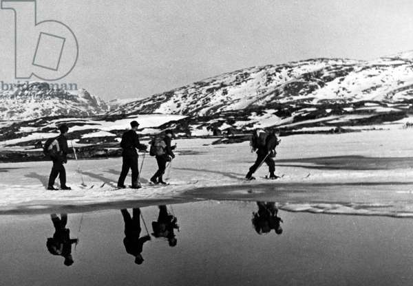 Norway Campaign: Battle of Narvik, 1940 (b/w photo)
