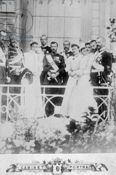 Nicholas II with his family, 1900
