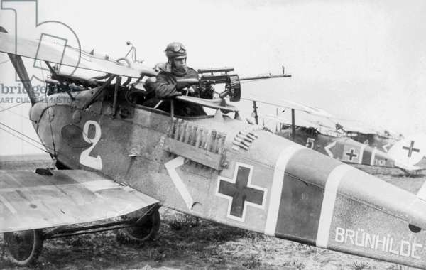 German Ground Attack Aircraft at the Western Front during World War I  (b/w photo)