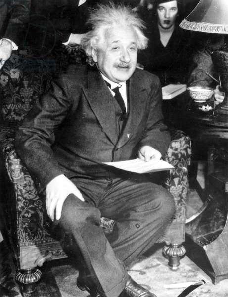 Albert Einstein, 1934 (b/w photo)