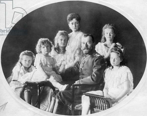 Family photo of the Romanovs, ca. 1905