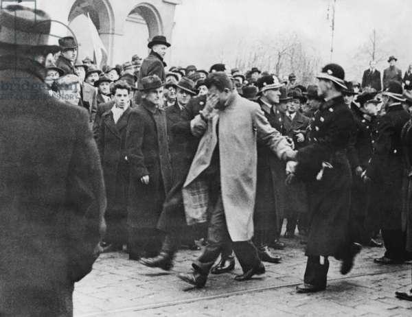 Student riots in Prague, 1934