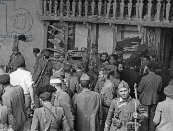 Spanish national troops in the Spanish Civil War, 1936