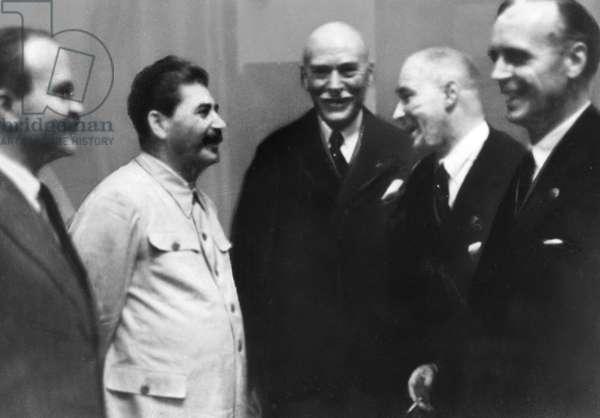Molotov Ribbentrop Pact, 23.8.1939 (b/w photo)