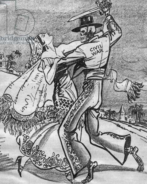 American caricature of the Spanish Civil War, 1936