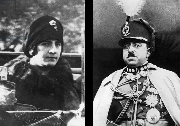 King Amanullah Khan and his wife Suraya, c.1919-29 (b/w photo)