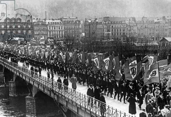 Meeting of the Sudeten German Party in Karlsbad, 1937