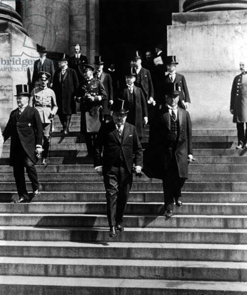 Friedrich Ebert and Otto Gessler, 1924 (b/w photo)