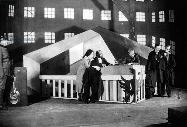 Stage set designed by George Grosz, c.1920s (b/w photo)