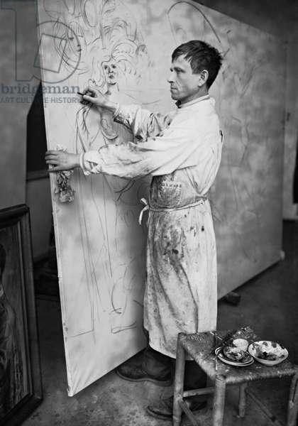 Otto Dix (b/w photo)