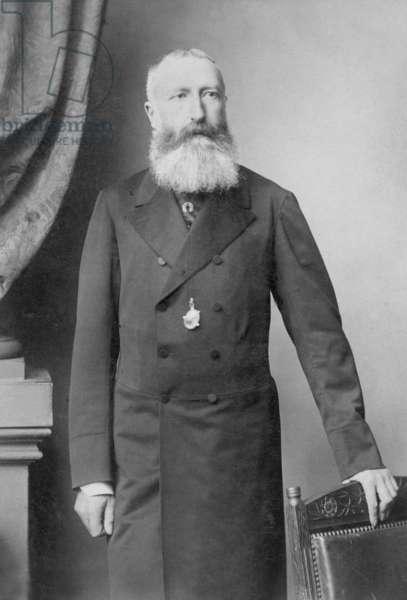 Leopold II, 1897 (b/w photo)