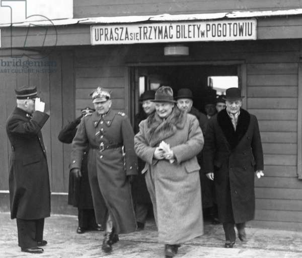 Hermann Göring in Poland, 1938 (b/w photo)