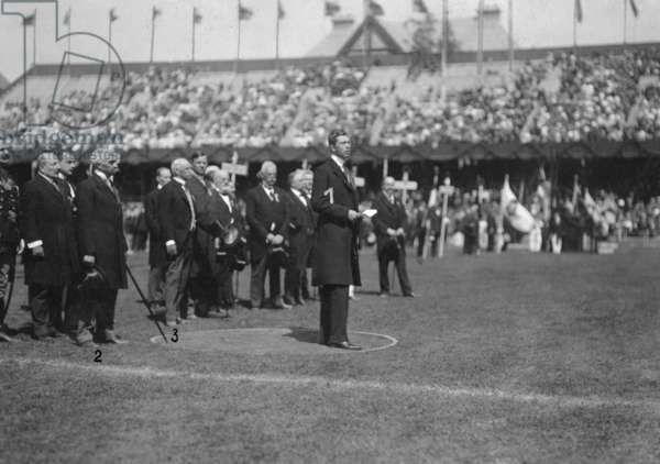 Olympic Games in Stockholm, 1912 (b/w photo)