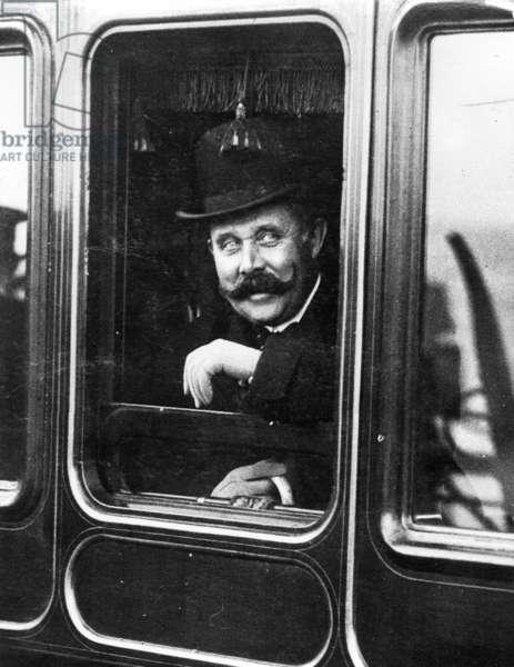 Archduke Franz Ferdinand in London, 1913 (b/w photo)