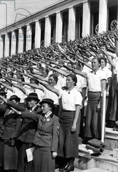 Reichsparteitag (Nazi Party Rally), 1937 (b/w photo)