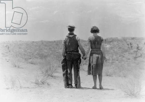 Buster Keaton the cowboy, 1925 (b/w photo)
