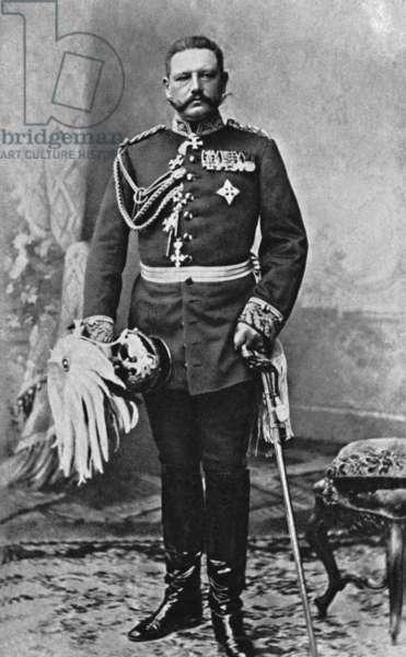 Paul von Hindenburg, 1897 (b/w photo)