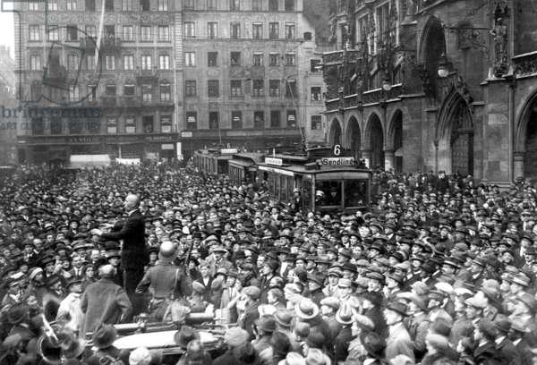 Hitler Coup, 1923 (b/w photo)