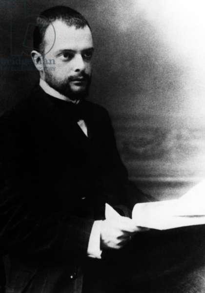 Paul Klee (1879-1940) swiss painter here c. 1915 (b/w photo)