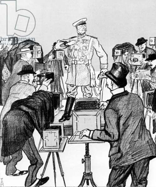 A caricature of Alfred Graf von Waldersee, 1900 (engraving)